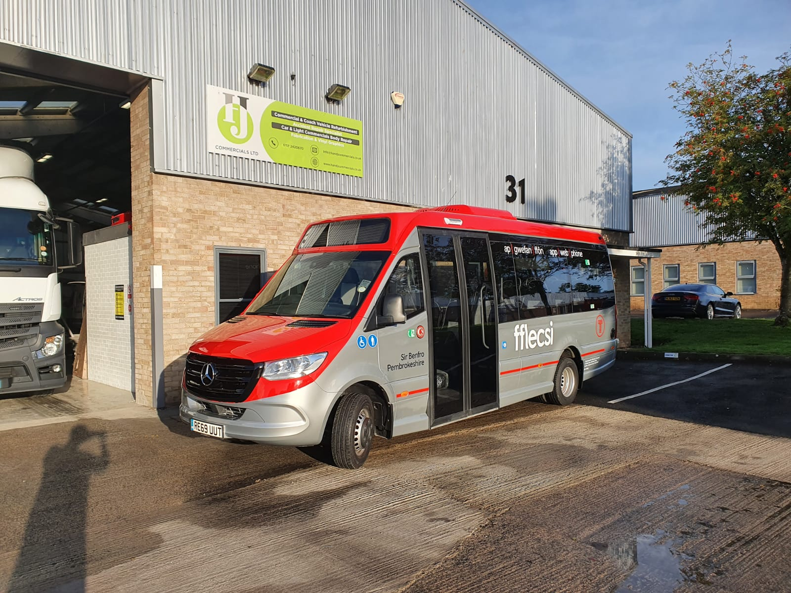 Transport For Wales Minibus